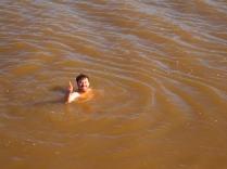 Swimming through silt