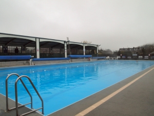 A grey day for a dip