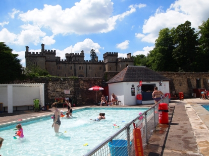 The tuck shop and kids pool