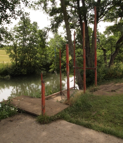 The once proud diving boards