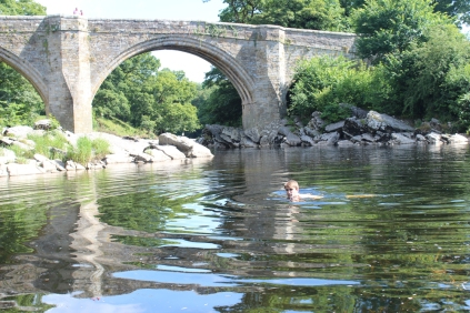 Swimming under Devil's Bridge