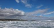 North towards Holy Island