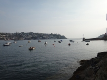 Sun setting over Fowey