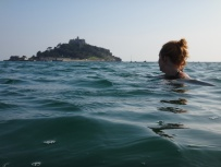 Molly looks out to St Michael's Mount