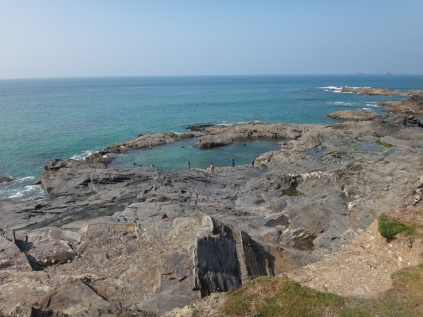 The pool from the coastal path