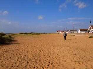 Walking along Jaywick Sands